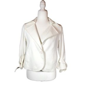 4/$25 Spiegel White Single Button Blazer-4